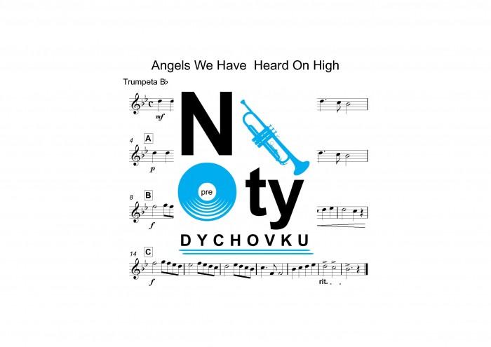 Angels We Have Heard On High noty kvarteto